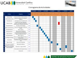 Cronograma de Caracas NOTA: Click en la imagen para agrandar.