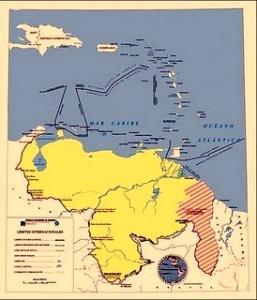 Mapa Oficial de la Repubilce de Venezuela