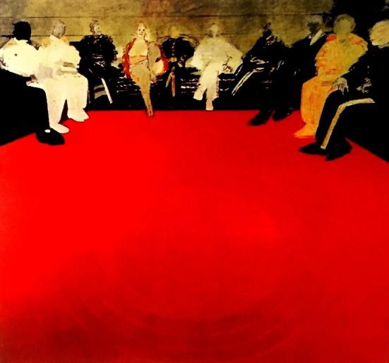 Reunión con un Círculo Rojo (Jacobo Borges, 1973 / Colección del Museo de Arte Moderno de México)