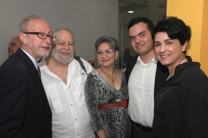 Félix Arellano, Marcos Tarre, Elvia Gómez, Jaiber Núñez y Elsa Cardozo